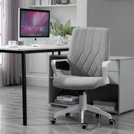 Fauteuil de bureau MERVEILLE à hauteur réglable gris clair chiné de MYCOCOONING