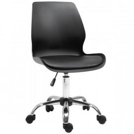 Chaise de bureau en chromé simili cuir SERAPHINE