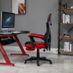 Fauteuil gaming inclinable OPTIMUS KING rouge noir