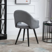 Chaise de bureau BERGEN gris clair