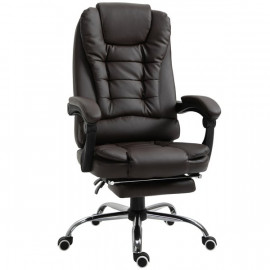 Fauteuil de bureau LYLSON inclinable chocolat