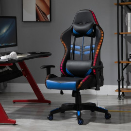 Fauteuil de bureau pour gamer BLOONS avec LED bleu noir