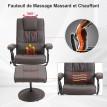 Fauteuil relax massant MASSIMO marron - MYCO00958
