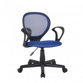 Chaise de bureau Zoe Bleue/Noire