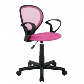 Chaise de bureau Zoe Rose/Noire