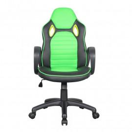 Chaise de bureau Racing pivotante noire/verte