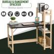 Bureau avec étagère intégrée en bois clair touche rustique