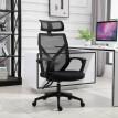 Chaise de bureau professionnelle en cuir noir confort ultime