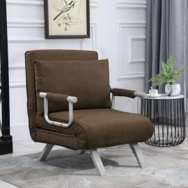 Fauteuil Canapé-lit 1 personne en métal Max Marron