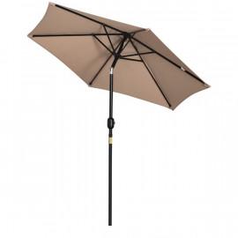 Parasol inclinable et pivotant MOKA Beige
