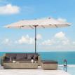 Grand parasol KING - Longueur 4,6 m - crème