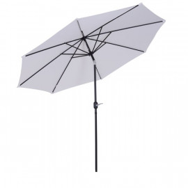 Parasol rond inclinable LYS blanc