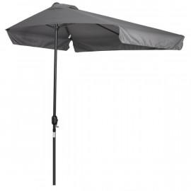 Demi-parasol de balcon DEAUVILLE gris