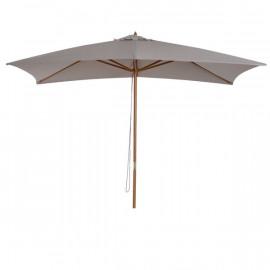 Parasol droit rectangulaire VANUATU grande taille gris