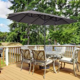 Grand parasol xxl CASTLE 4,6 m gris