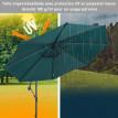 Parasol déporté octogonal inclinable JUNGLE vert