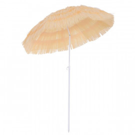 Parasol de Jardin HAWAÏ Imitation Raphia Beige
