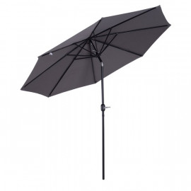 Parasol rond inclinable NORMANDY gris