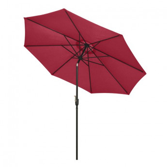 Parasol rond moderne GROSEILLE Rouge