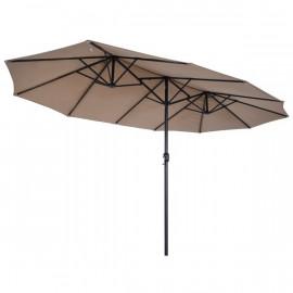 Parasol de jardin XXL SAFARI marron