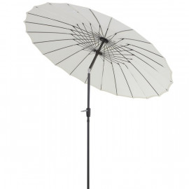 Parasol rond inclinable TOTORO Crème