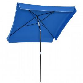 Parasol inclinable carré RACER bleu