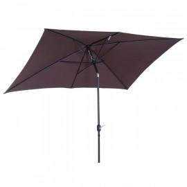 Grand parasol rectangle PORTO chocolat