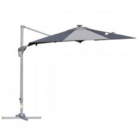 Parasol LED déporté SHADEE gris