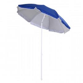 Parasol octogonal de plage ADRIATIK bleu