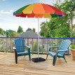 Parasol rond inclinable FIESTA multicolore