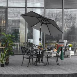 Parasol hexagonal inclinable MILANO gris