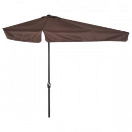 Demi-parasol de balcon LONDON chocolat