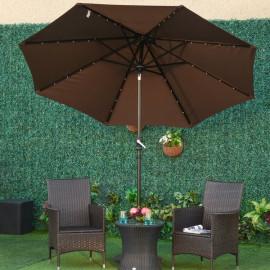Parasol LED octogonal LUMINA chocolat