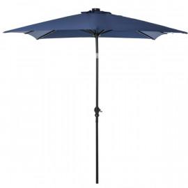 Parasol LED rectangulaire YUMI bleu