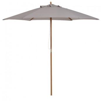 Grand parasol en bois de bambou PACIFIQUE gris
