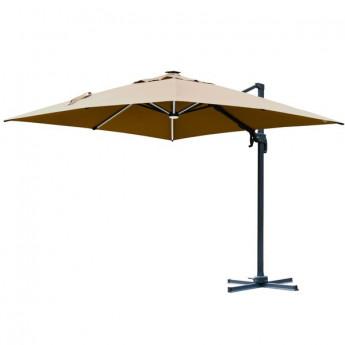 Parasol déporté carré DUNE beige