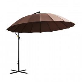 Grand parasol déporté rond CABOURG Chocolat