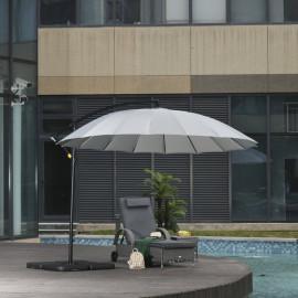 Parasol déporté rond inclinable ARCACHON Gris
