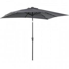 Grand parasol VEGAS à LED gris