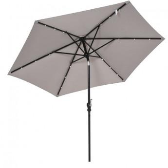 Grand parasol à LED inclinable TUNIS Gris