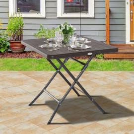 Table pliante de jardin MEALI chocolat