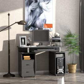Bureau informatique multimédia en bois BELFAST noir