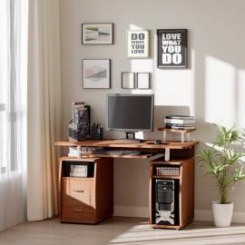Bureau informatique FOREST couleur noyer