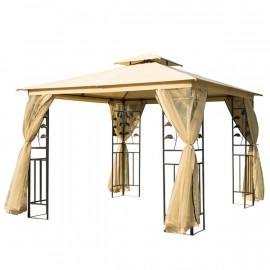 Tonnelle Pavillon de jardin JOHANESBURG beige