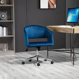 Chaise de bureau VELVETA bleue