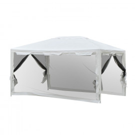Tonnelle Tente de Réception avec moustiquaires Party blanc