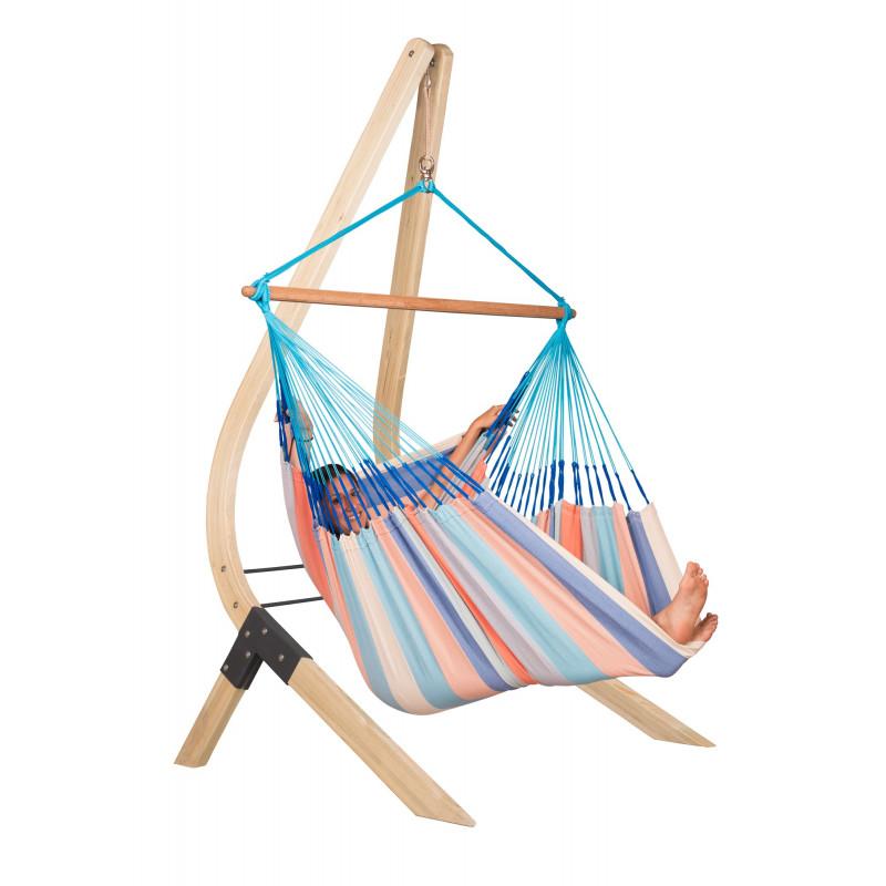 support en bois pour chaise hamacs lounger vela. Black Bedroom Furniture Sets. Home Design Ideas