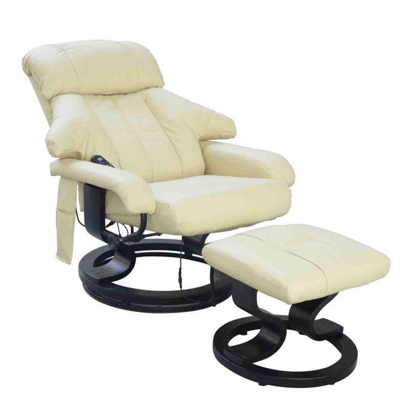 fauteuil relax massant honolulu cr me. Black Bedroom Furniture Sets. Home Design Ideas