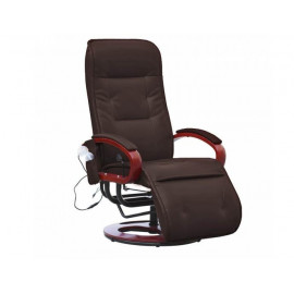 Fauteuil relax massant LONDRES SimilicuirCuir marron - MYCO00931