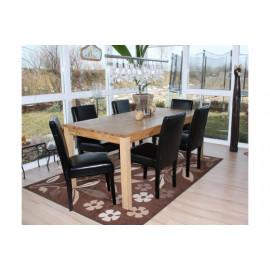 Chaise de salle à manger lot de 2 SANTORINI cuir crème - MYCO00939